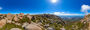 360 panorama of Mt Wellington summit