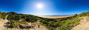 360 panorama of Bakers Beach, Narawntapu Ntl Park