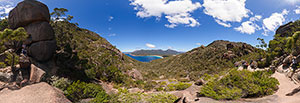 360 panorama of Wineglass Bay Lookout